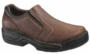 HYTEST 10141 Brown Electrical Hazard Steel Toe Men's Slip-On Opanka Oxford