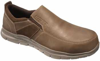 HYTEST 10181 Men's Brown, Steel Toe, EH, Twin Gore Slip On