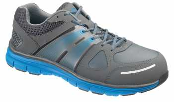 HYTEST 11422 Men's Grey/Blue Athletic Steel Toe Electrical Hazard