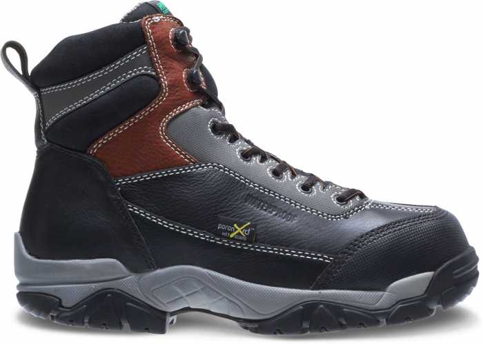 HyTest 12250 Black Electrical Hazard, Composite Toe, Poron XRD Internal Met-Guard, Waterproof, Non-Metallic Unisex 6 Inch Boot