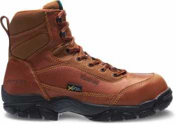 HyTest 12251 Brown Electrical Hazard, Composite Toe, Poron XRD Internal Met Guard, Waterproof, Non-Metallic Unisex 6 Inch Boot