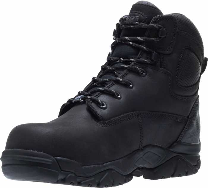 HyTest 12480 Black Electrical Hazard, Composite Toe, Puncture Resistant, Non-Metallic Waterproof Unisex 6 Inch Hiker