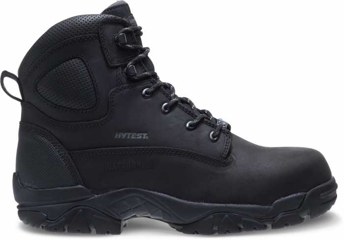 HYTEST 12480 Black Electrical Hazard, Composite Toe, Puncture Resistant, Non-Metallic Waterproof Unisex 6 Inch Hiker