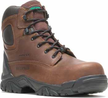 HYTEST 12481 Brown Electrical Hazard, Composite Toe, Puncture Resistant, Non-Metallic Waterproof Unisex 6 Inch Hiker