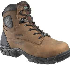 HyTest 12481 Brown Electrical Hazard, Composite Toe, Puncture Resistant, Non-Metallic Waterprof Unisex 6 Inch Hiker