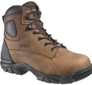 HyTest 12481 Brown Electrical Hazard, Composite Toe, Puncture Resistant, Non-Metallic Waterprof Unisex 6 Inch Hiker