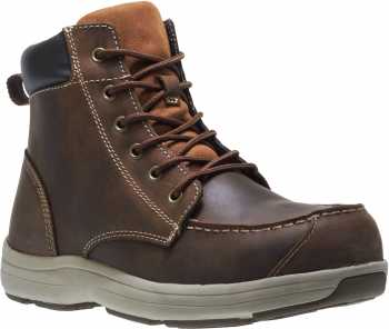HYTEST 13021 Brown Electrical Hazard, Steel Toe Men's Moc 6 Inch Boot