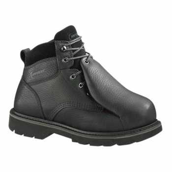 HYTEST 13370 Men's, Black, Steel Toe, EH, External Met Guard, 6 Inch Boot