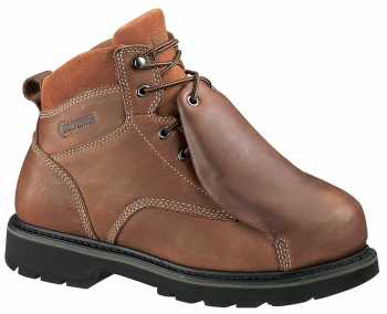 HyTest 13371 Tan Electrical Hazard, Steel Toe, Leather Covered External Met Guard Men's 6 Inch Boot