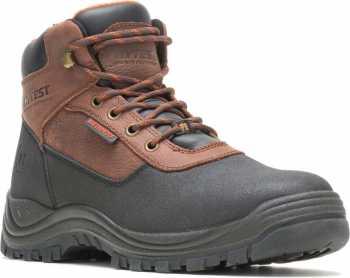 HYTEST 13621 Knox, Men's, Black/Brown, Steel Toe, EH, PR, 6 Inch, WP Boot