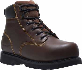 HYTEST 13671 Ajax Brown Electrical Hazard, Steel Toe, Internal Met-Guard Men's 6 Inch Work Boot
