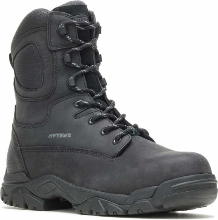 HYTEST 14480 Black Electrical Hazard, Composite Toe, Waterproof, Insulated, Puncture Resistant Unisex 8 Inch Stealth Boot