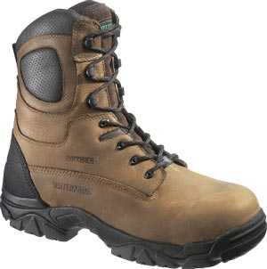HyTest 14481 Brown Electrical Hazard, Composite Toe, Waterproof, Insulated, Puntcure Resistant Unisex 8 Inch Stealth Boot