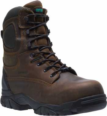 HYTEST 14481 Brown Electrical Hazard, Composite Toe, Waterproof, Insulated, Puncture Resistant Unisex 8 Inch Stealth Boot