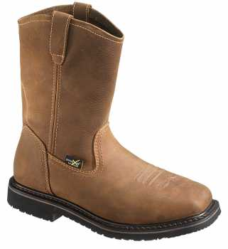 HyTest 15021 Men's Brown Wellington XRD Internal Metatarsal Guard, Steel Toe, Electric Hazard