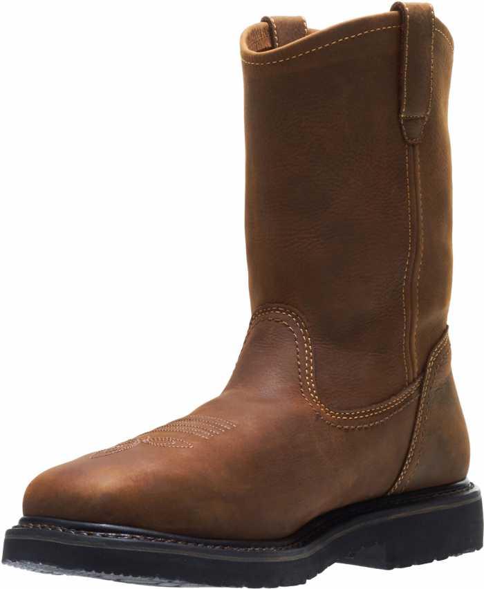 HYTEST 15021 Men's Brown Wellington XRD Internal Metatarsal Guard, Steel Toe, Electric Hazard