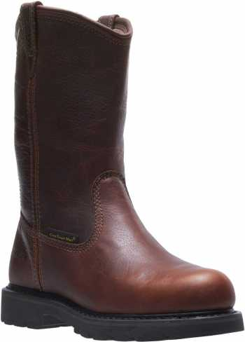 HYTEST 15271 Men's, Brown, Steel Toe, EH, Internal Met Guard, Pull On Boot