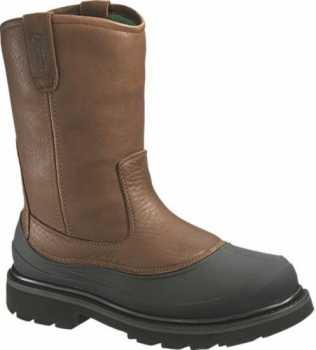 HyTest 15762 Men's, Brown/Black, Steel Toe, EH, WP, Pull On Boot