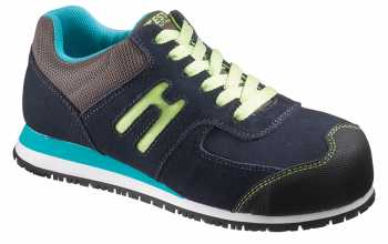 HYTEST 17101 Navy Suede, Electrical Hazard, Steel Toe, Women's Athletic