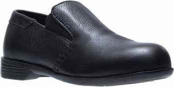 HYTEST 17170 Black Static Dissipating, Steel Toe, Women's Double Gore Slip On Dress Shoe