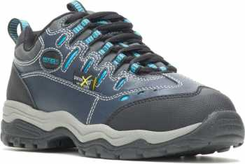 HYTEST 17202 Navy Electrical Hazard, Steel Toe, Poron XRD Internal Met Guard, Women's Athletic