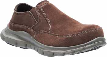 HYTEST 17304 Women's Brown, Steel Toe, EH, Twin Gore Slip On