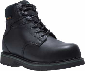HYTEST FootRests 23180 Black Electrical Hazard, Composite Toe, Waterproof, Men's 6 Inch Work Boot