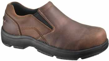 HYTEST 30401 Brown Static Dissipating, Composite Toe, Men's Twin Gore Slip On
