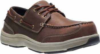 HYTEST 30432 Unisex, Brown, Comp Toe, SD, Boat Shoe