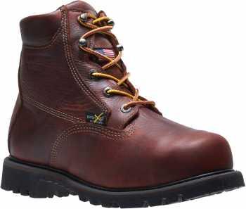 HyTest 43011 Brown USA Made, Electrical Hazard, Steel Toe, Poron XRD Internal Met Guard Men's 6 Inch Boot