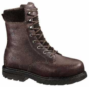Wolverine WW4452 Cannonsburg Brown, Steel Toe, EH, Internal Met Guard, Men's 8 Inch Work Boot