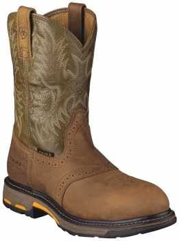 Ariat AR1191 Work Hog, Men's, Aged Bark, Comp Toe, EH Pull On