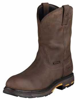 Ariat 1200 Men's Distressed Brown Slip Resistant Composite Toe Waterproof Wellington