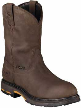 Ariat 1200 Men's Distressed Brown Slip Resistant Composite Toe Waterproof Wellington