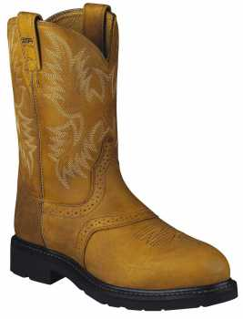 Ariat AR2437 Sierra, Men's, Saddle Tan, Steel Toe, EH, Pull On Boot