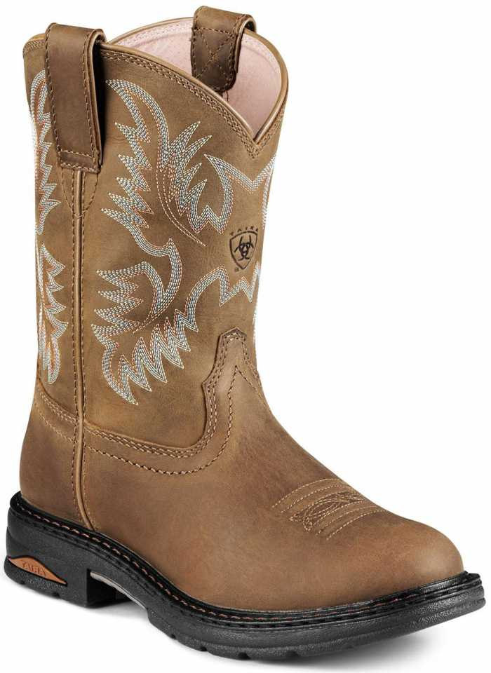 Ariat AR8634 Women's Brown Slip Resistant Composite Toe EH Wellington