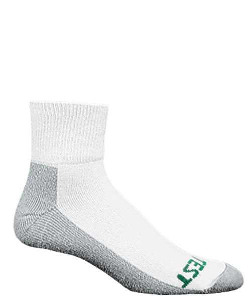 HYTEST AS154WHT-6PK Men's, Performance, White/Gray, Ankle Sock