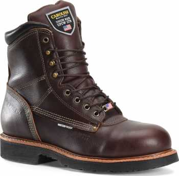 Carolina CA1816 Men's Brown, 8 Inch, Comp Toe, EH, Waterproof, Made In USA Boot