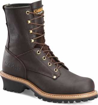 Carolina CA1821 Brown Steel Toe, Electrical Hazard, Men's 8 Inch Logger