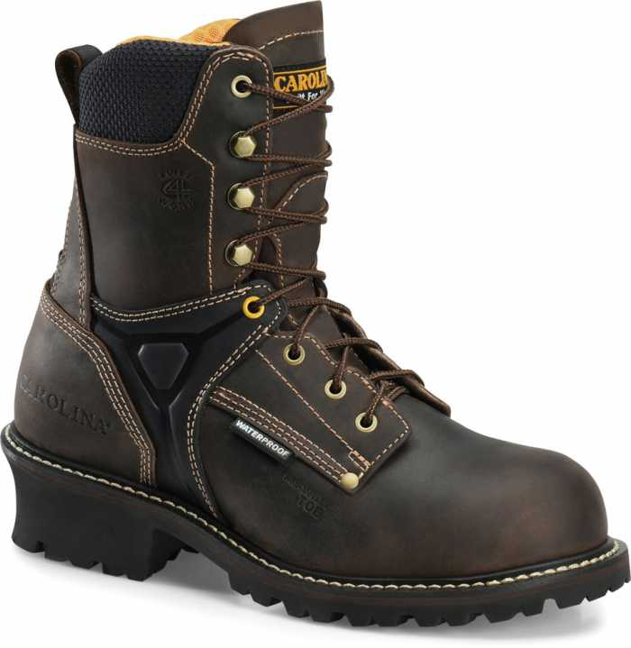 Carolina CA6921 Timber, Men's, Black, Comp Toe, EH, WP, 8 Inch Logger