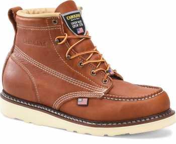 Carolina CA7503 Amp, Men's, Tan, Steel Toe, Moc Toe, 6 Inch, Wedge Boot