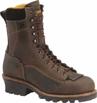 Carolina CA7522 Men's, Brown, Comp Toe, EH, Waterproof, Lace-to-Toe Logger