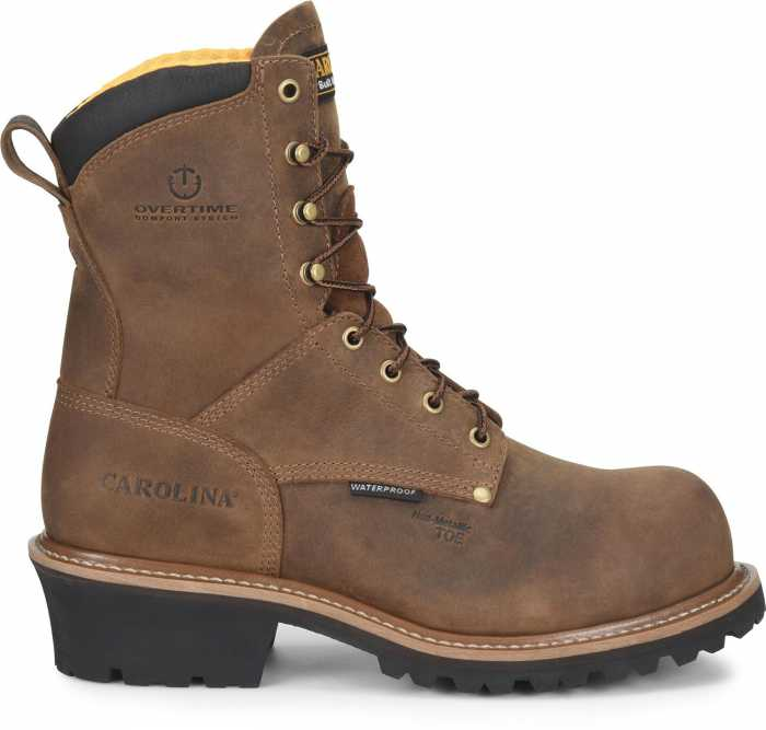 Carolina CA9852 Poplar, Men's, Brown, Comp Toe, EH, WP, 8 Inch Boot