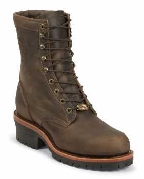 Chippewa CH20091 Cibola, Men's Brown, Steel Toe, EH, 8 Inch Logger Boot