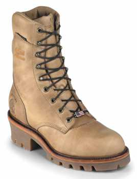 Chippewa CH25417 Men's, Golden Beige, Steel Toe, EH, WP, 9 Inch Logger