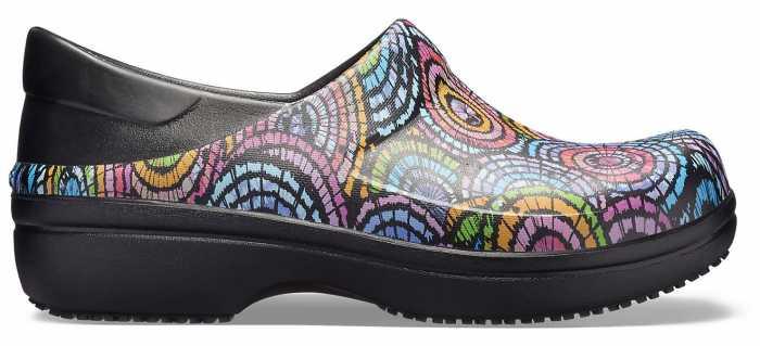 Crocs CR2053850C4 Women's, Neria Black/Flower, Soft Toe, Slip Resistant Clog