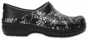 Crocs CRNERIABKSV Women's, Neria Black/Silver, Soft Toe, Slip Resistant Clog