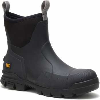 Caterpillar CT91141 Stormers, Men's, Black, Steel Toe, EH, Rubber Boot