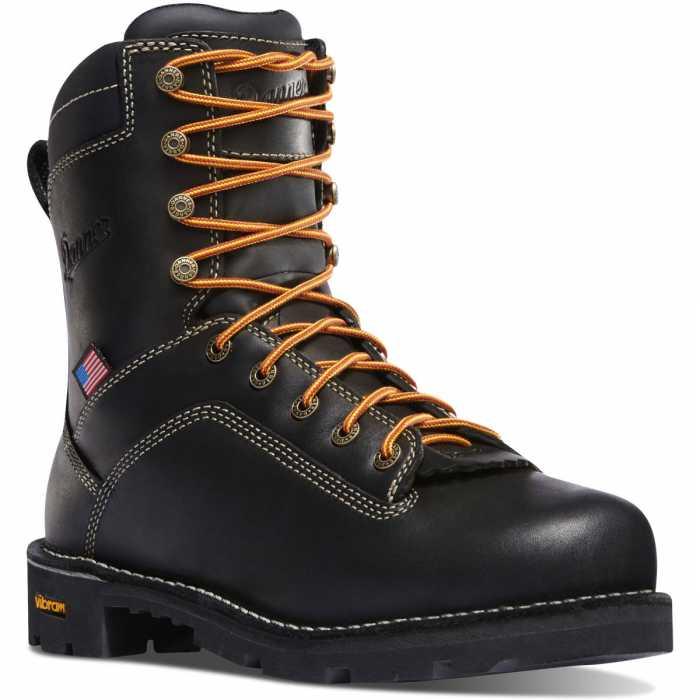 Danner DH17311 Quarry, Men's, Black, Alloy Toe, EH, WP, 8 Inch Boot