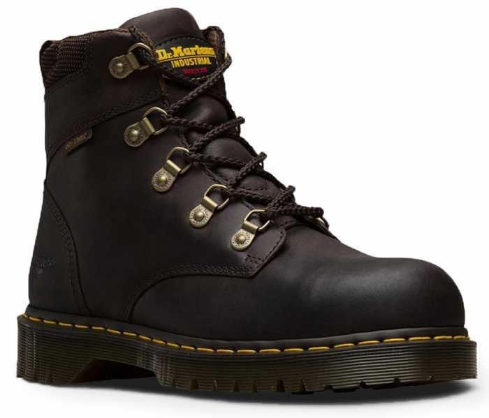 Dr. Martens DM13733201 Men's Brown Steel Toe, SD, Slip Resistant Hiker